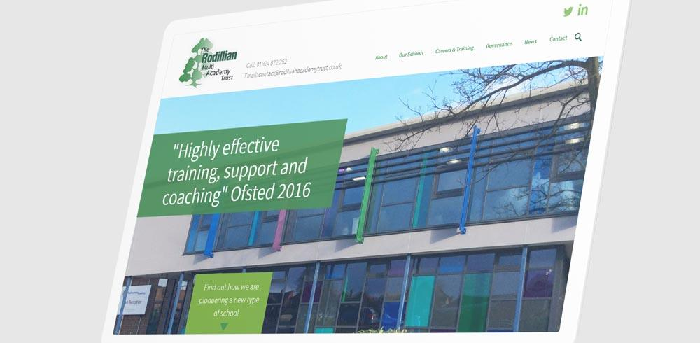 Website design for Academy Trust
