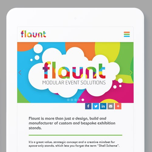 Responsive website design for flaunt