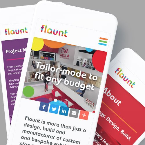 Creative Mobile Design for Flaunt
