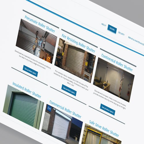 NGF Industrial Doors Category page