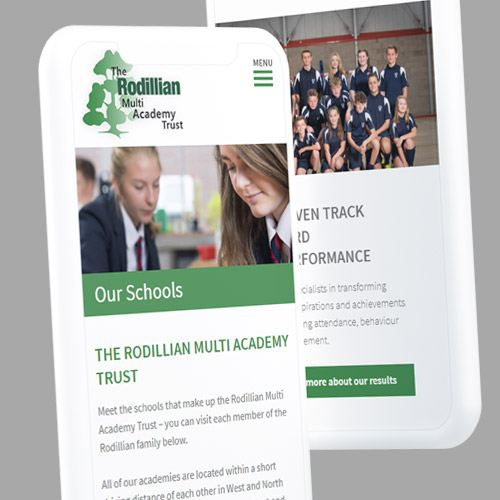 Mobile responsive website for Academy
