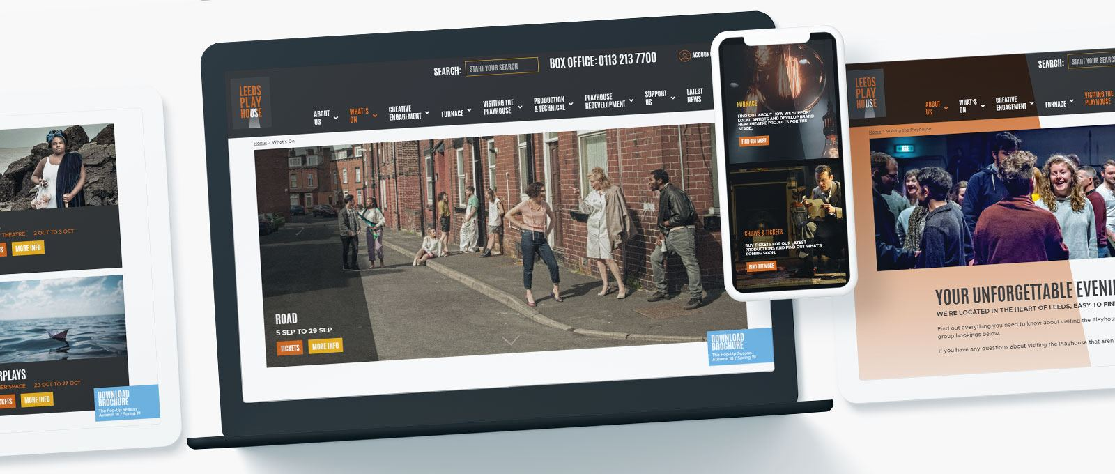 Leeds Playhouse Website design and build