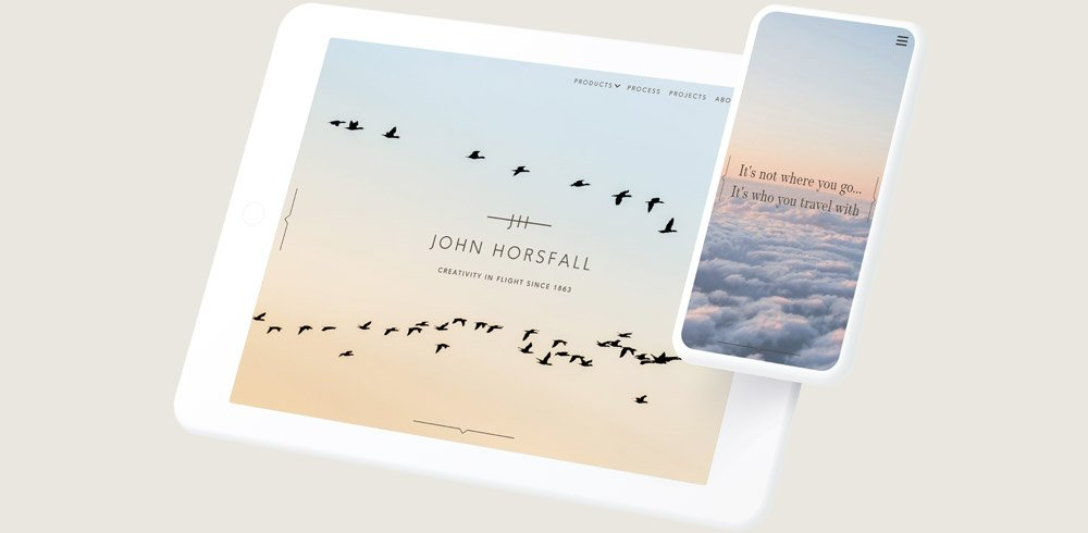 John Horsfall website on tablet and mobile