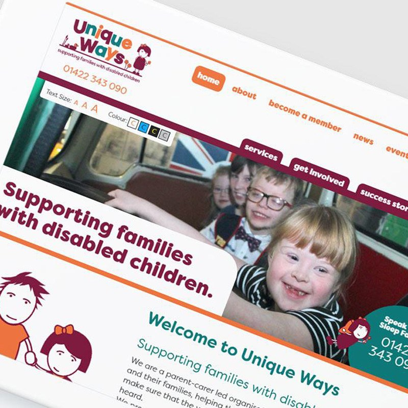 Unique Ways - Branding, web design, photography and video for a family charity
