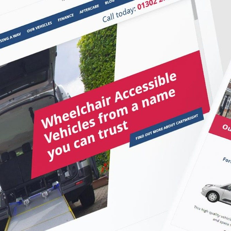 Cartwright Mobility – Brand development, web design and print for vehicle conversions
