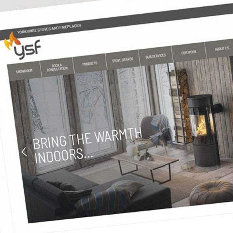 Yorkshire Stoves and Fireplaces - Ecommerce website design, copywriting and WordPress build.